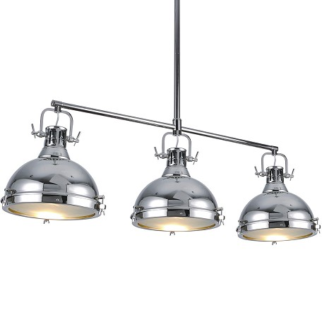 Essex 3 Light Island Pendant In Chrome