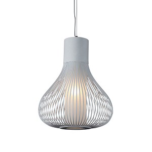 Grace White 1 Light Mini Pendant - B2401