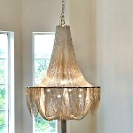 "Chantilly Collection 10-Light 34"" Chandelier with Jewelry Chain 21465NKPN"
