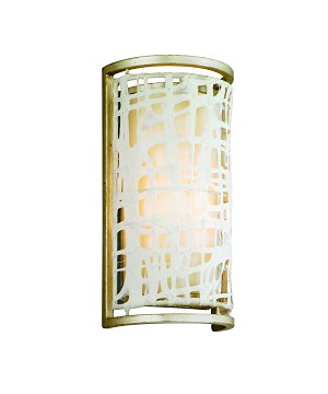 "Kyoto Collection 1-Light 12"" Silver Leaf Japanese Paper Wall Sconce 131-11"