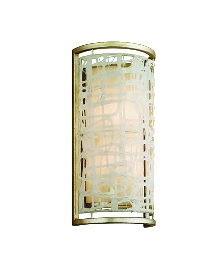 "Kyoto Collection 2-Light 16"" Silver Leaf Japanese Paper Wall Sconce 131-12"