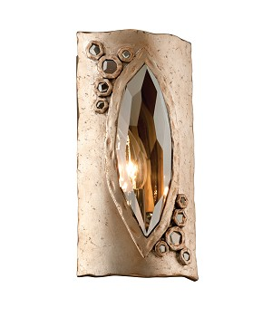 "After Party 1-Light 11"" Topaz Leaf Wall Sconce with Smoked Crystal 168-11"
