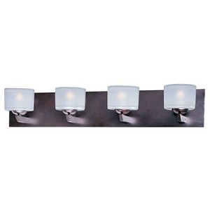 "Vortex Collection 4-Light 27"" Oil Rubbed Bronze Bath Vanity Fixture E22814-09OI"