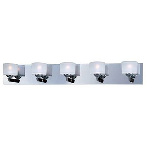 "Vortex Collection 5-Light 34"" Polished Chrome Bathroom Vanity Fixture E22815-09PC"