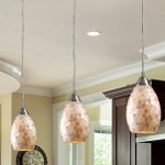 "Capri Collection 1-Light 9"" Mosaic Cappa Shell Mini Pendant 10141/1"