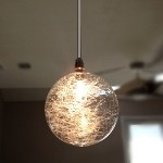 "Starburst Collection 1-Light 6"" Mini Pendant with Threaded Glass Round Globe E20108-79"