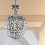 "Rococo Collection 1-Light 13"" Chrome Mini Crystal Pendant Chandelier 7801D8C/RC"