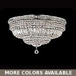 "Invisible Design 12-Light 24"" Chrome or Gold Ceiling Flush Mount with European or 30% Lead Crystals SKU# 30776"