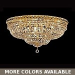 "Invisible Design 18-Light 30"" Chrome or Gold Ceiling Flush Mount with European or Swarovski Crystals SKU# 30778"