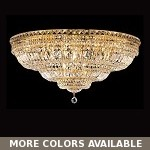 "Invisible Design 21-Light 36"" Chrome or Gold Ceiling Flush Mounts with European or Swarovski Crystals SKU# 30780"