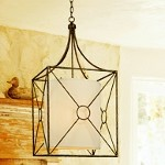 "Maidstone Collection 4-Light 17"" Bronze Leaf Pendant with Beige Linen Shade F3014BLF"