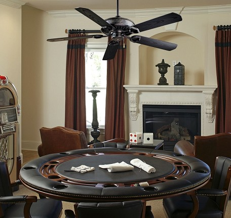 "Sundowner Heritage Indoor or Outdoor 54"" Energy Star Ceiling Fan with Black Blades F589-HT"