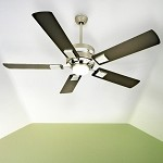 "5th Avenue Collection 52"" Brushed Nickel Ceiling Fan with Flat Black Blades and Integrated Light Kit FA52BN5"