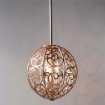 "Arabesque Collection 3-Light 14"" Silver Leaf Patina Round Pendant Chandelier F2538/3SLP"