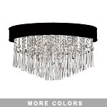 "Shaded Light Design 8-Light 22"" Chrome Crystal Ceiling Mount with Micro Shade SKU# 13059"