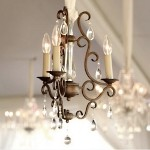 "Hampton Collection 3-Light 18"" Auburn Dusk Mini Chandelier with Crystal Accents 12024AD"