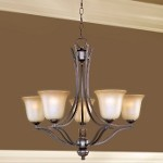 "Madera Collection 5-Light 26"" Oil Rubbed Bronze Chandelier with Wilshire Glass Shade 10175WSOI"