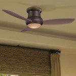 "Concept II Series 52"" Wet Location Oil Rubbed Bronze Outdoor Hugger Ceiling Fan with Light Kit F574-ORB"