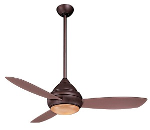 "Concept I Series 52"" Wet Location Oil Rubbed Bronze Outdoor Ceiling Fan with Light Kit F577-ORB"