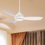 "Concept I Series 52"" Wet Location White Outdoor Ceiling Fan with Light Kit F577-WH"