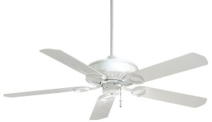 "Sundowner White Indoor or Outdoor 54"" Energy Star Ceiling Fan with White Blades F589-WH"