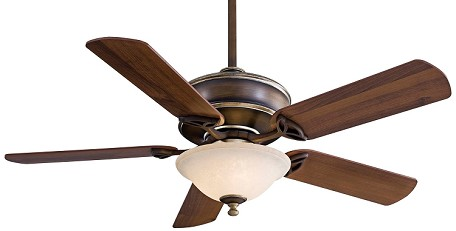 Belcaro Walnut 5 Blade 52In. Ceiling Fan - Light, Remote Control And Blades Included