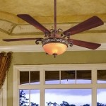 "Salon Grand Collection 56"" Florence Patina Ceiling Fan with Light Kit F707-FLP"