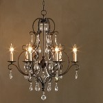 "Chateau Collection 6-Light 30"" Mocha Bronze Chandelier with Crystal F1902/6MBZ"