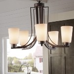 "Weston Collection 5-Light 25"" Colonial Iron Chandelier with Opal Etched Glass F2761/5CI"