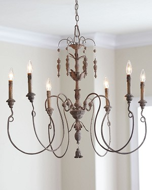 "Salento Series 6-Light 32"" Persian White Chandelier 6006-6-70"