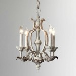 "Florence Collection 4-Light 19"" Persian White Mini Chandelier 6037-4-70"