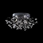 "Lunasphere Design 28-Light 32"" Polished Chrome Crystal Flush Mount Ceiling Fixture SKU* 10927"