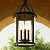 "Scarsdale Collection 3-Light 21"" Forged Black Outdoor Hanging Lantern with Heritage Seeded Glass F9476FBK"