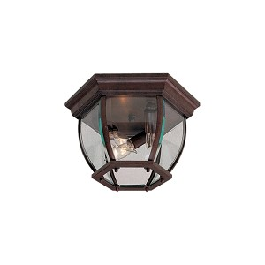 "Antique Bronze 3-Light 10"" Outdoor Ceiling Fixture 71174-91"