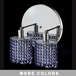 "Hollywood Design 2-Light 9"" Oval Vanity Fixture with   30% Lead or Swarovski Spectra Crystal SKU# 11336"