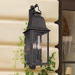 "Larchmont Collection 4-Light 31"" Aged Pewter Outdoor Wall Fixture B3213"