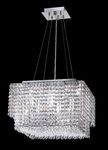 Krane Series 4-Light Chrome 16'' Square Pendant Chandelier with European, Swarovski, or Colored Crystals SKU# 11257