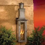 "Maryville Collection 29"" Washed Pewter Gas Wall Lantern with Tempered Clear Glass 7909-WP"