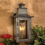 "Maryville Collection 20"" Washed Pewter Gas Wall Lantern with Tempered Clear Glass 7913-WP"