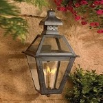 "Bayou Collection 23"" Washed Pewter Gas Wall Lantern with Tempered Clear Glass 7917-WP"
