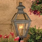 "Bayou Collection 26"" Washed Pewter Gas Post Lantern with Tempered Clear Glass 7918-WP"