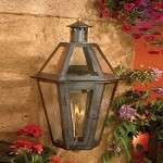 "Grande Isle Collection 23"" Washed Pewter Gas Wall Lantern with Tempered Clear Glass 7921-WP"
