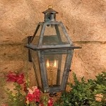 "Grande Isle Collection 15"" Washed Pewter Gas Wall Lantern with Tempered Clear Glass 7925-WP"