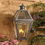 "Grande Isle Collection 18"" Washed Pewter Gas Wall Lantern with Tempered Clear Glass 7929-WP"