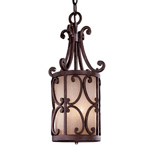 "Zaragoza Collection 3-Light 23"" Golden Bronze Mini Pendant with Salon Scavo Glass Shade N6243-355"