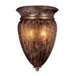 "Sanguesa Collection 2-Light 12"" Sanguesa Patina Wall Sconce with Vidrio Artistico Glass Shade N6081-194"