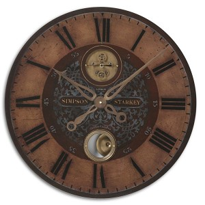 "Simpson Starkey Collection 23"" Wall Clock 06038"