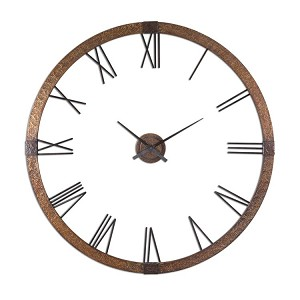 "Amarion Collection 60"" Copper Wall Clock 06655"