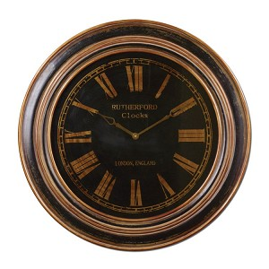 "Buckley Collection 32"" Black Wall Clock 06683"