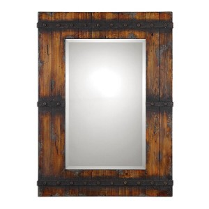 Stockley Collection Rustic Mahogany Mirror 13804
